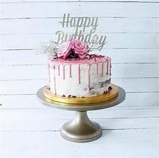 Silver Happy Birthday Cake Topper Fancy Cake By