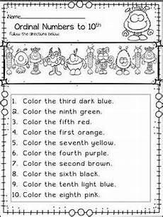 a worksheet that gets students to cut and paste the right ordinal number in the right position
