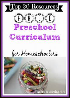 free homeschool preschool curriculum 20 favorites creekside learning