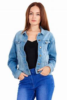 denim jacket blue womens casual grey xs