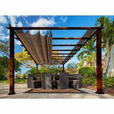 Paragon 11 Ft X 16 Ft Aluminum Pergola With The Look Of