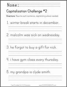 basic sentence pattern worksheets for grade 4 529 capitalization challenge 2 ccss for grade l 1 2 a 2nd grade worksheets grade
