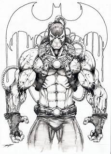 Bane Batman Coloring Pages Bane Artwork Sketch Bane Batman Batman Drawing