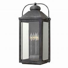 hinkley lighting anchorage aged zinc outdoor wall light 1858dz destination lighting