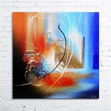 tableau peinture abstraite acrylique cajam tableau abstrait peinture en relief avec feuille d