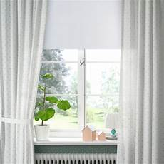 len gardiner med omtag 1 par prickar vit ikea