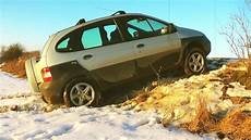 renault scenic rx4 renault megane scenic rx4 1 9dci soft snow test