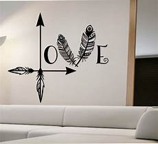 Home Decor Ideas Wall Stickers by Arrow Wall Decal Feather Namaste Vinyl Sticker
