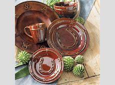 Horseshoe Dinnerware Set   16 pcs   Western Home Style