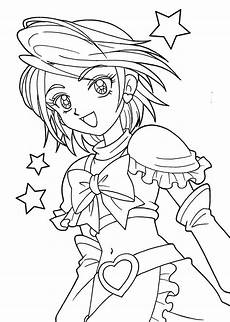 pretty cure coloring pages for girls printable free