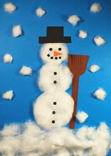 winterbilder zum basteln schneemann aus watte kinderspiele welt de