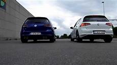 Dragrace Golf 7 R Vs Golf 7 Gti Pp Using Launch