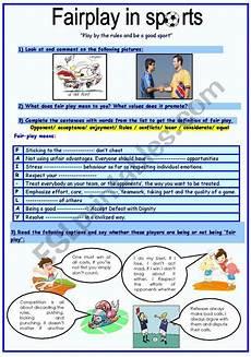 sport worksheets intermediate 15809 fairplay in sports esl worksheet by sassouki