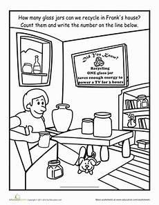 recycle the jars worksheet education com