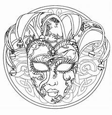 Ausmalbilder Fasching Mandala Mandala Venice Carnival Mask M Alas Coloring Pages