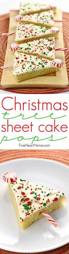 christmas tree sheet cake pops tender vanilla sheet cake is slathered in cream cheese frosting