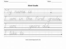 early handwriting worksheets 21375 grade handwriting worksheet worksheet for 1st grade lesson planet