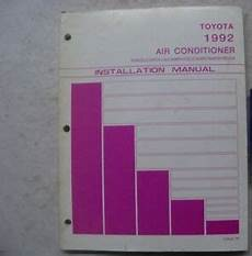1995 toyota tercel and paseo air conditioner installation manual original 1992 toyota tercel corolla camry truck air conditioner installation manual ebay