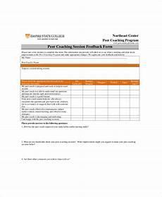 coaching form sle coach feedback form 8 exles in word pdf