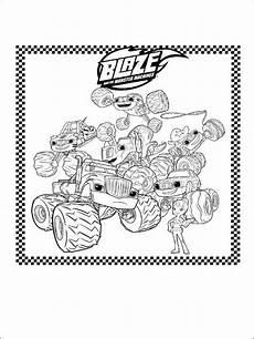 Malvorlagen Blaze Und Die Maschinen Blaze Und Die Maschinen Ausmalbilder F 252 R Kinder 1
