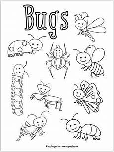 bugs coloring pages for easy peasy and