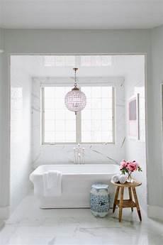 Bathroom Nook Ideas by Tub Nook With Chandelier Transitional Bathroom