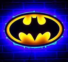 new dual led color batman the dark knight caped crusader illuminated neon superhero batsignal