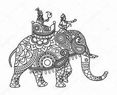 asian elephant coloring pages indian maharajah on