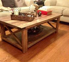 how should a coffee table be white rustic x coffee table diy projects