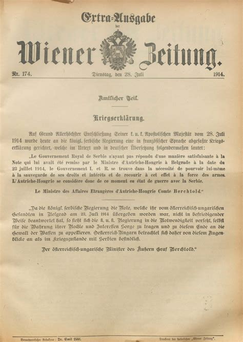 British Declaration Of War 1914