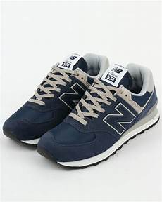 new balance 574 trainers navy grey blue running shoes
