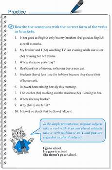 grade 5 grammar lesson 2 subject verb agreement grammar
