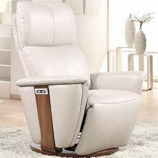 fauteuil lit relax cuir motoris 233 avec socle rotatif vilacosy