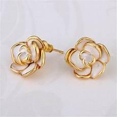 lingkaran hoop earrings kecil anting warna putih emas di rebanas rebanas