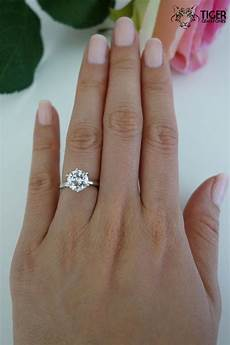 2 carat 6 prong solitaire engagement ring 8mm by