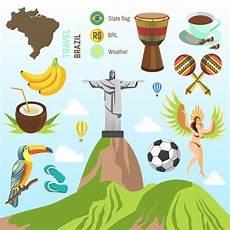 simbolos naturales de brasil vector brasil e rio s 237 mbolos vetor premium