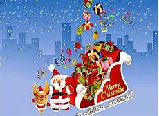 merry christmas santa claus animation wallpaper wallpapers gallery