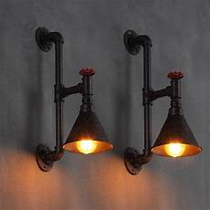 industrial wall pipe l retro light steunk vintage wall sconce light black ebay