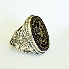 islamic ring ayetel kursi ring آية الكرسي خاتم onyx stone engraved ring