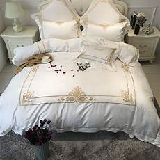 White And Gold Duvet Cover by White With Gold Duvet Cover Cotton Luxury Hotel