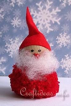 pom pom santa claus so easy to make yarn for pom