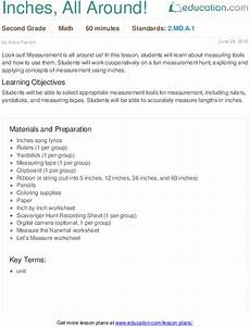 measurement worksheets 1460 inches all around with images lesson plans learning objectives education