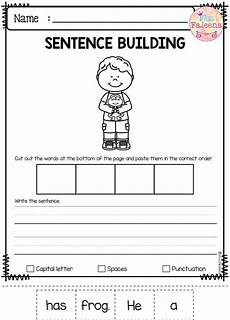 writing basic sentences worksheets 22123 march sentence building sentence building kindergarten writing writing skills