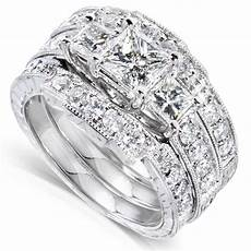 diamond me princess diamond wedding ring 1 7 8 carats ct tw in 14k white gold of 3