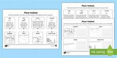 ks1 all about plant habitats differentiated worksheets
