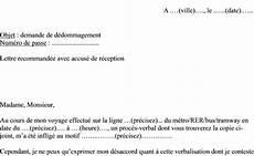 ratp réclamation amende lettre de r 233 clamation archives