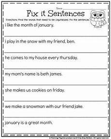 writing sentences punctuation worksheets 22216 correct the sentence worksheet grade worksheets fix it sentences for capitalization choos