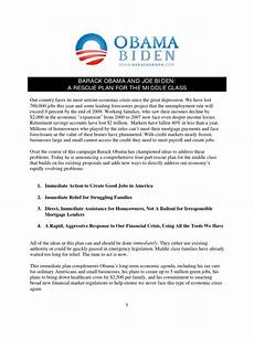 obama housing rescue plan barack obama and joe biden s rescue plan for the middle