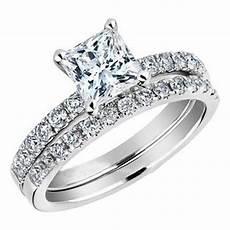 size 5 11 platinum plated wedding ring princess cut engagement bridal halo ebay