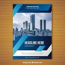 blue flyer design template vector free